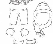 Coloring pages Easy winter