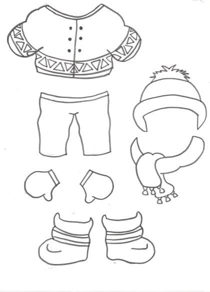 Free coloring and drawings Easy winter Coloring page