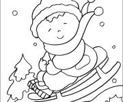 Coloring pages Kindergarten Winter and Snow