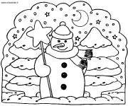 Coloring pages Kindergarten Winter in color