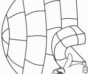 Coloring pages Stylized Winter Kindergarten