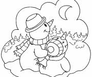 Coloring pages Winter for children