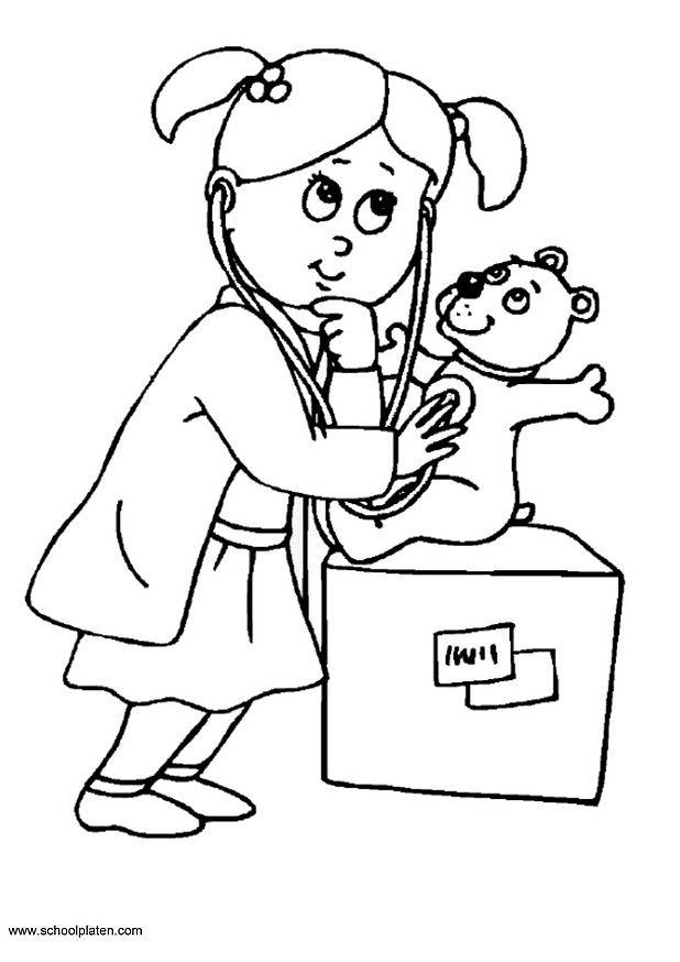 Free coloring and drawings A Doctor Girl Coloring page