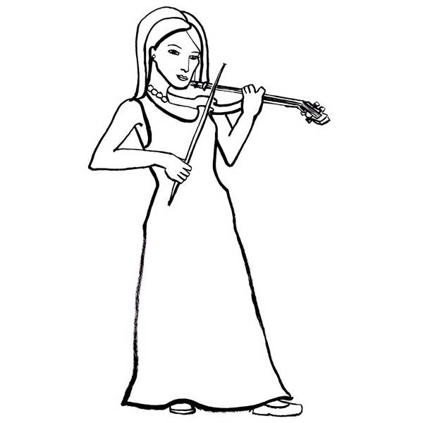 Free coloring and drawings A pencil Musician Coloring page