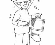 Coloring pages Beekeeper at work
