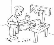 Free coloring and drawings Carpentry Coloring page