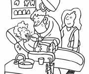 Free coloring and drawings Dentist profession Coloring page