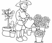 Free coloring and drawings Florist drawing Coloring page