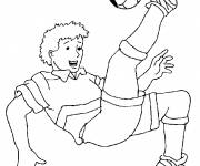 Free coloring and drawings Football player Coloring page