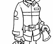 Free coloring and drawings The Fireman Trades Coloring page