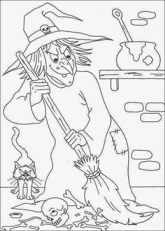 Free coloring and drawings wicked Witch Coloring page