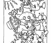 Coloring pages Snowman in The Forest