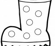 Free coloring and drawings vector winter boots Coloring page
