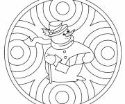 Free coloring and drawings Winter Maternelle mandala Coloring page