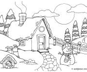 Coloring pages A small country chalet