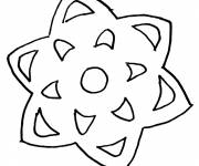 Coloring pages Snowflake 45