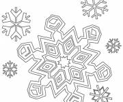 Coloring pages Snowflake 9