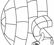 Coloring pages Winter Simple in black