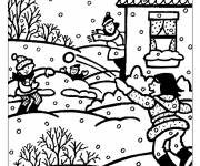Coloring pages Winter Snow 14