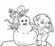 Coloring pages Winter Snow 32
