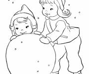 Coloring pages Winter Snow 33