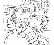 Coloring pages Winter Snow 8