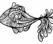 Coloring pages Abstract Fish Art