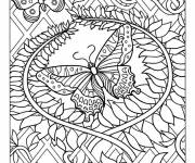 Coloring pages Adult Butterfly mandala