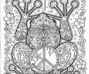 Coloring pages Adult Frog in Black