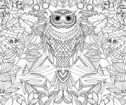 Coloring pages Adult Owl