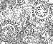 Coloring pages Anti-Stress Difficult nature