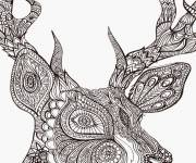 Coloring pages Anti-Stress Zen Animal