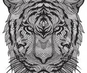Coloring pages Anti-Stress Zen Tigers