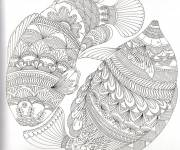 Coloring pages Artistic Fish Anti-Stress