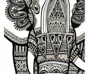Coloring pages Psychedelic elephant