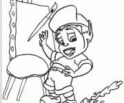 Coloring pages Adiboo is preparing to draw
