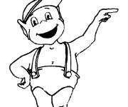 Coloring pages Adiboo smiles