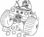 Coloring pages Alf driving