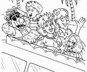 Coloring pages Alf's family