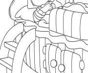 Coloring pages Andy Pandy asleep