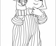 Coloring pages Andy Pandy to color