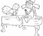 Coloring pages Funny Andy Pandy