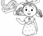 Coloring pages Looby Lo playing
