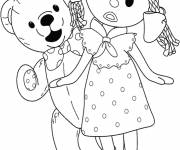 Coloring pages Looby Loo and Teddy