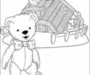 Coloring pages Teddy Andy Pandy