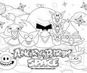 Coloring pages Angry Birds Game drawing