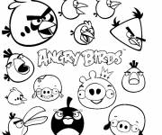 Coloring pages Angry Birds in color