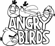 Coloring pages Angry Birds Logo