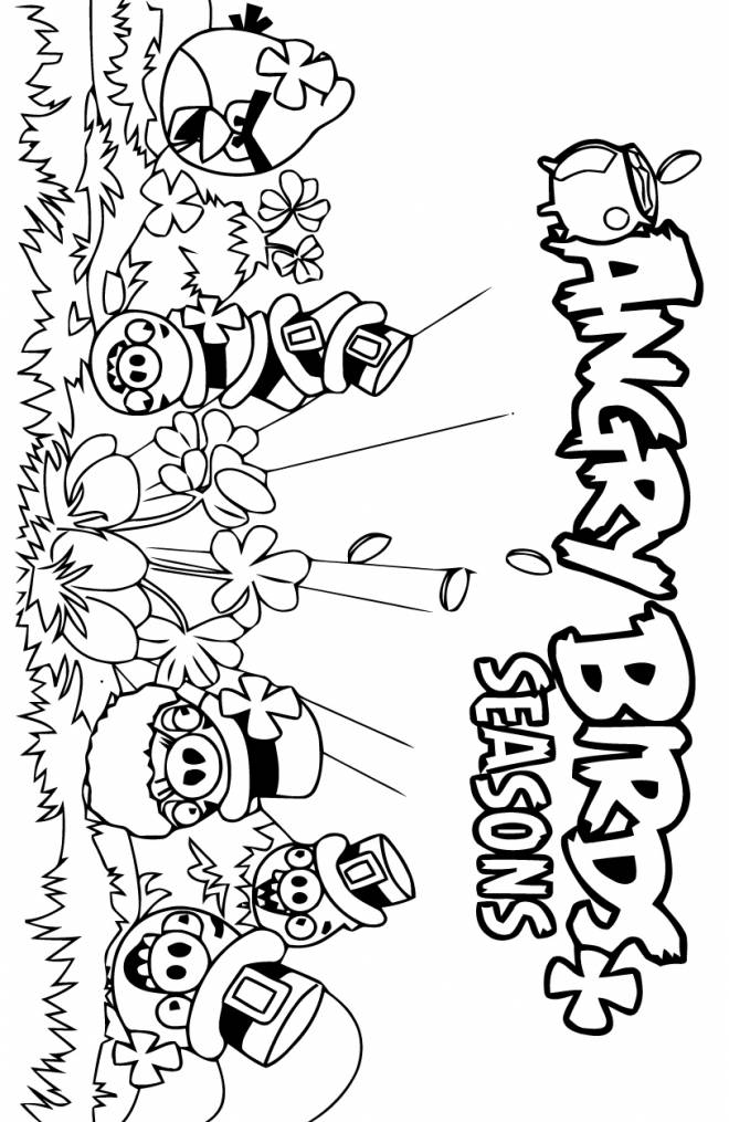 Free printable Angry Birds coloring pages liste 20 à 40