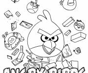 Coloring pages Angry Birds Video Game